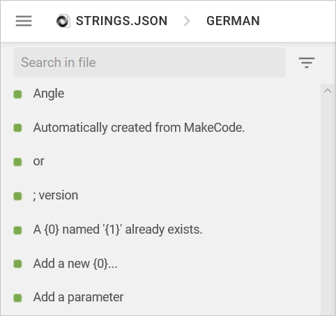 Strings file example