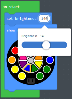 Set brightness slider
