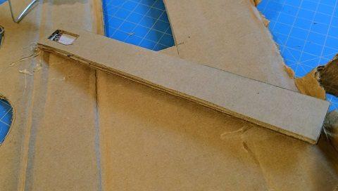 Cut a hole for the servo motor in the Gondola arm