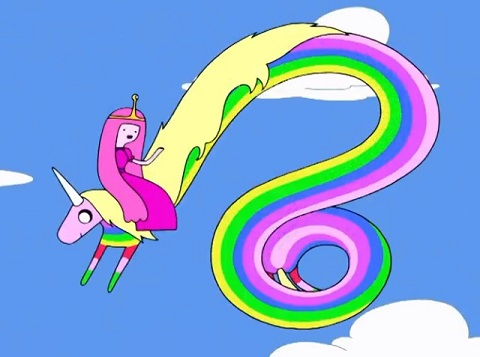 Princesss Bubblegum on a Unicorn