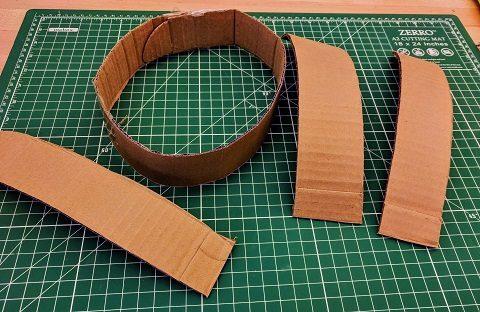 Helmet cardboard pieces
