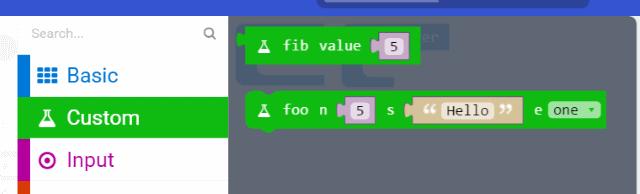 Custom blocks screenshot