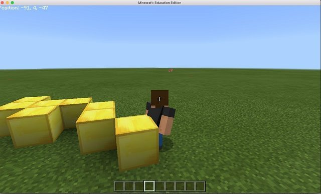 place gold blocks