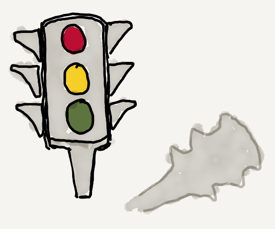 Red and green stoplight