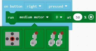 Select a motor type dropdown