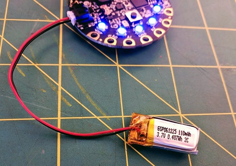 Lipo batteries are smaller and more portable than alkaline battery packs