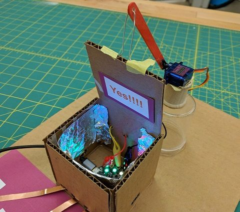 Use light diffusing material on the inside of the box