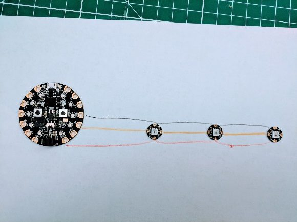 Plan the NeoPixel wire connections