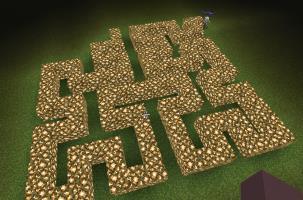 Maze-shaped fractal