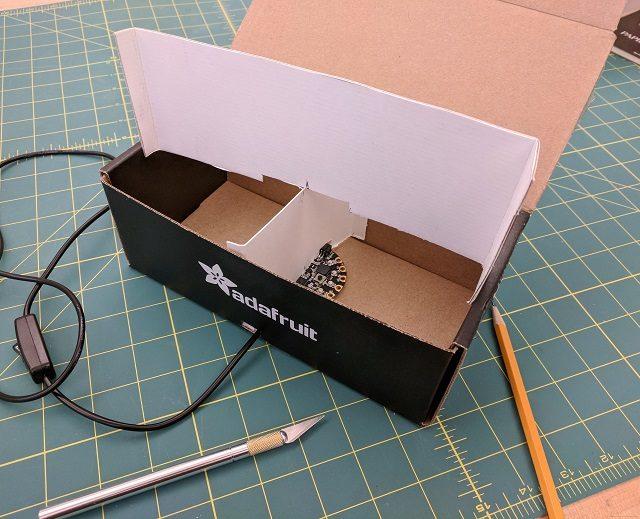 Dividing box into fourths