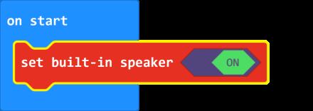 micro:bit V2 speaker on/off