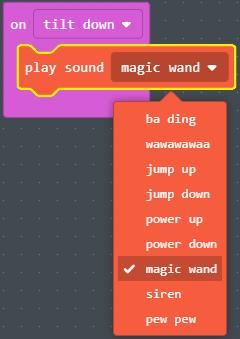 Selecting magic wand sound