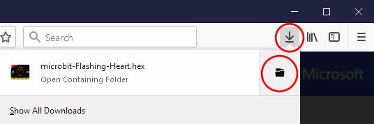 Uploading from Firefox on Windows - Microsoft MakeCode