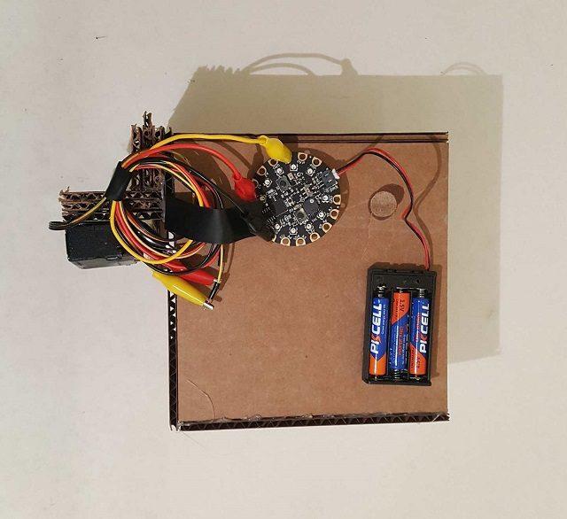 Completed confetti box