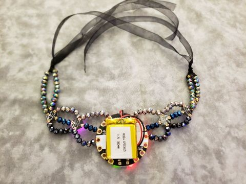 Back view of the necklace