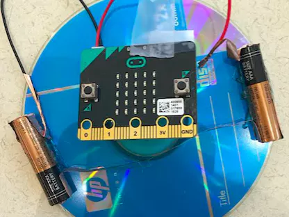 micro:bit top and spin counter