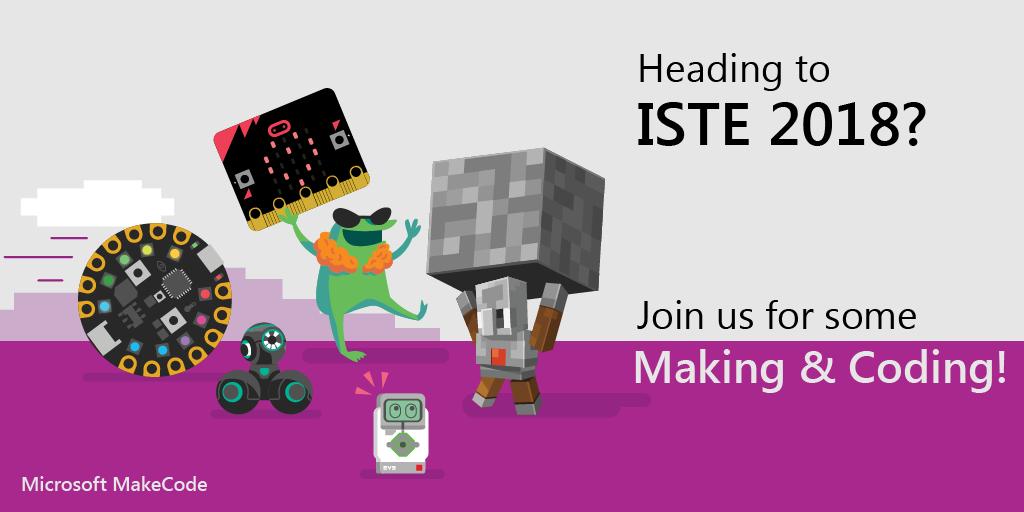 Makecode @ISTE 2018 Header