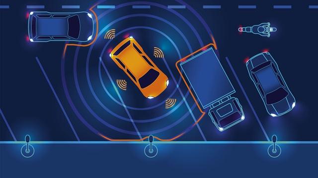 Autonomous parking graphic