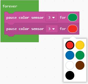 Color selection dropdown
