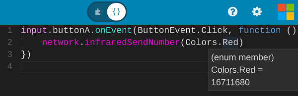 Infrared send number in JavaScript