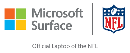 Surface official laptop of NFL logo
