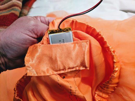 Sew up a battery pocket