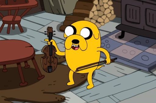 Jake the Dog with a fiddle