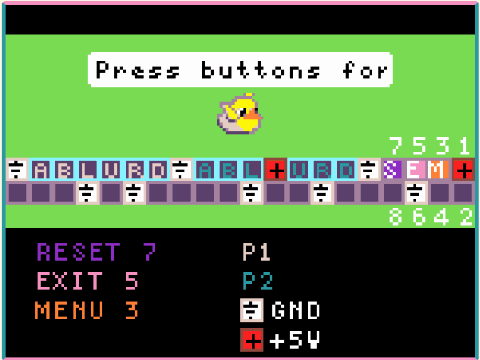 A screenshot of the configuration game