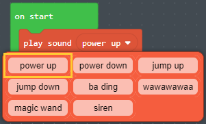 Sound choices for playSound