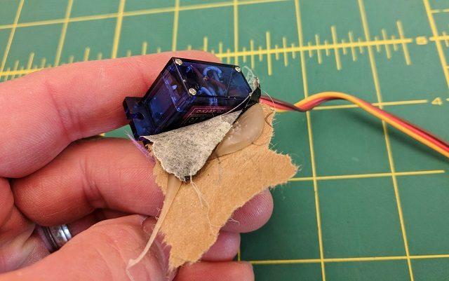 Glue servo and use tape