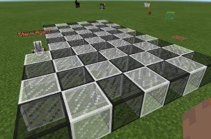 A checker board of blocks