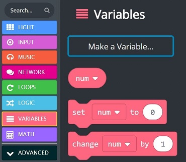 The 'num' variable in variables toolbox