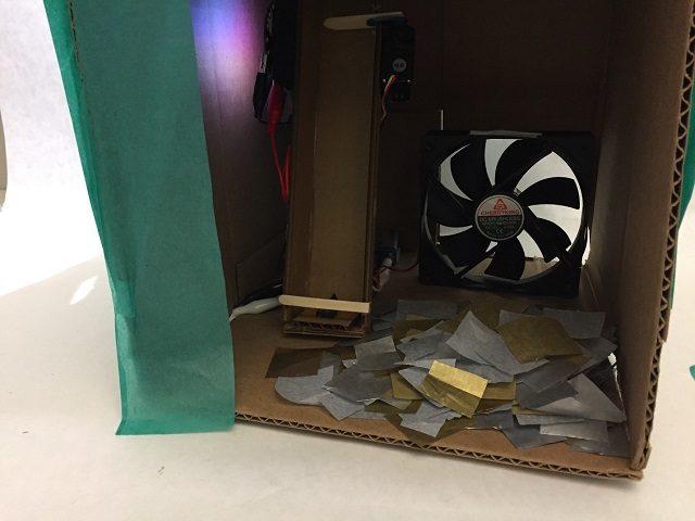 Load confetti into box