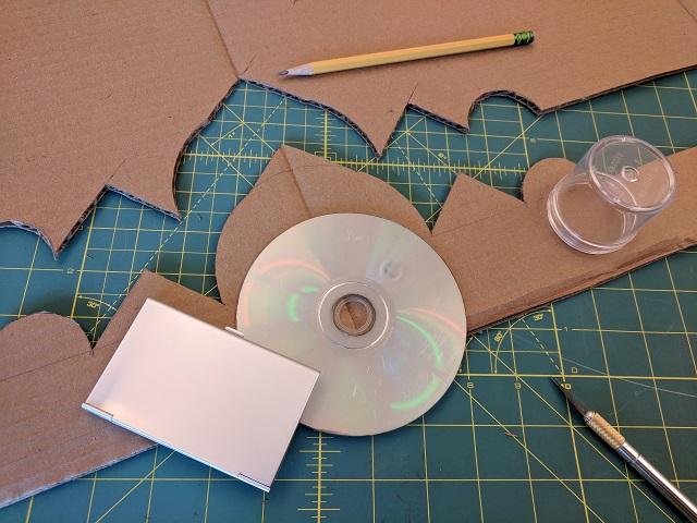 Crown cutout of cardboard