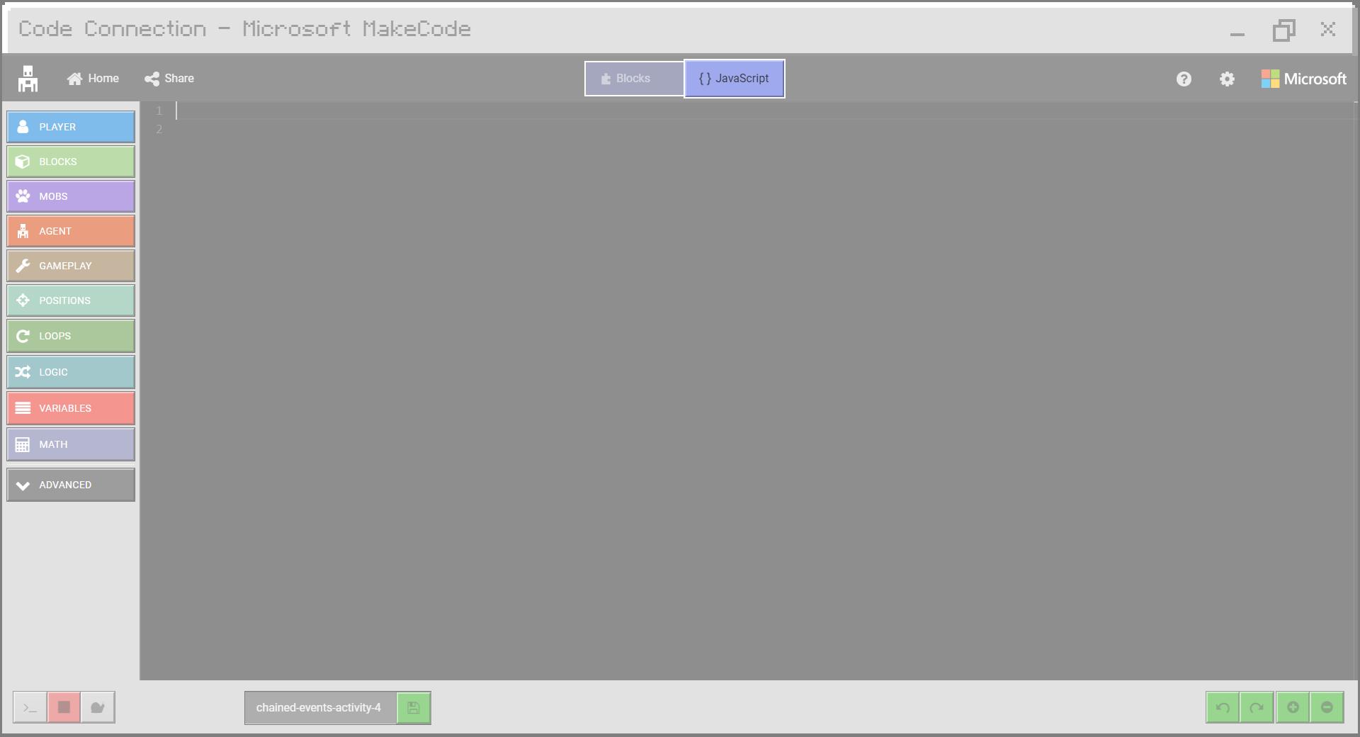 Paste Starter Code in Editor