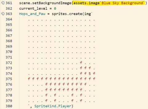 Sprite data in JavaScript