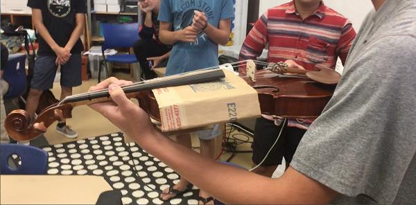 Violin tuner mount
