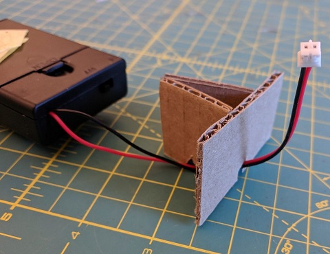 Cardboard stand to mount the Circuit Playground Express