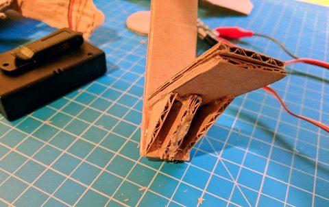 Shelf and its brace glued to the Gondola arm
