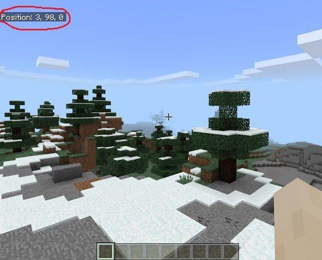 Minecraft position