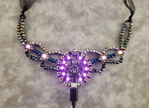 Front view of necklace
