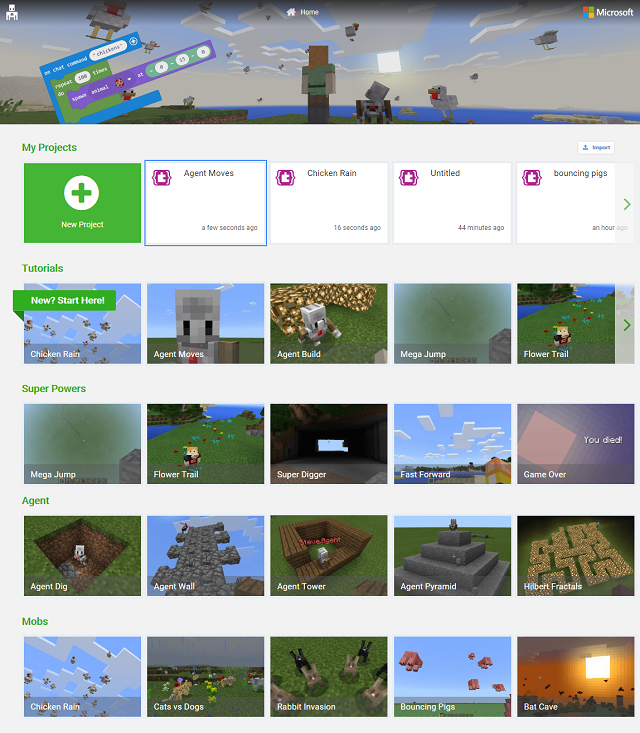 Microsoft MakeCode for Minecraft on Windows 10
