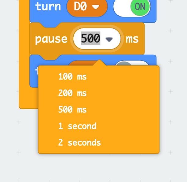 Number dropdown screenshot