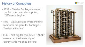 Unit 1 - History of Computing