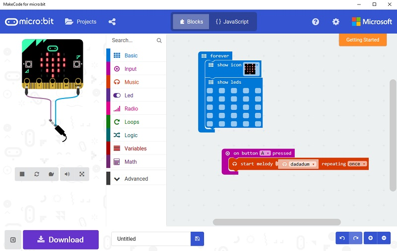 New MakeCode for micro:bit app