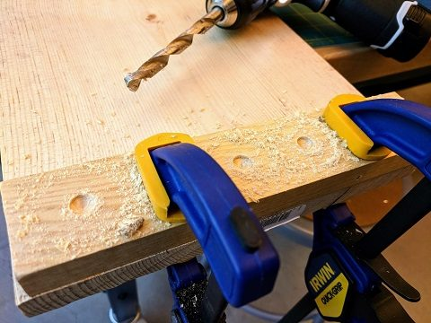 Wood end stops for the balance board
