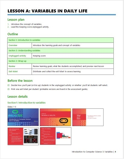 Example lesson page