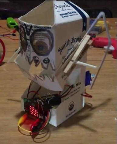 Milk carton robot