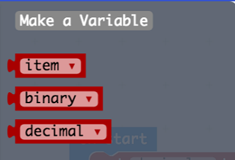 Make a variable