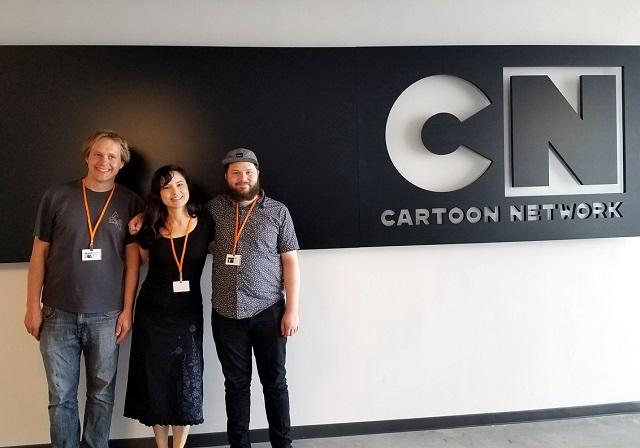 MakeCode team members visiting CN studios